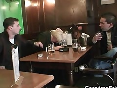 two chaps pick up and fuck drunk grandma