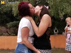 old and juvenile lesbians fuck every other in