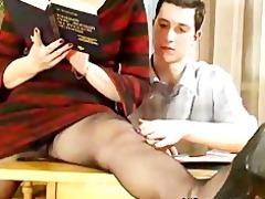 mature teaches her student russian cumshots gulp