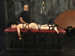 cute juvenile brunette is tortured in the