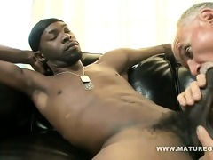 white daddy breaks ass on huge darksome cock