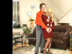 lads for matures - alana bonks in the office