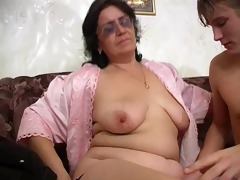 mom with wide ass, saggy tits, shaggy cum-hole
