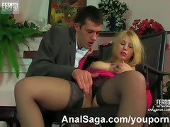 chunky angel gets quality anal drill