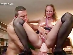 aged mother gets all her holes filled part1