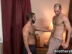 brothers sexy boyfriend acquires pecker sucked