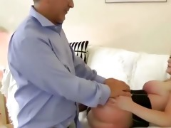 young european babe is bawdy cleft slammed by old