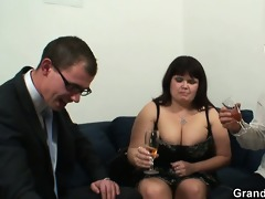 biggest titted doxy receives lured into 3some