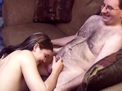 small titted cute beauty disrobes and sucks