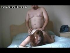 old dude fucks a juvenile redhead