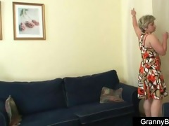 aged lady got young cock