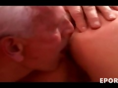 older man fucking & licking a busty