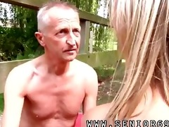 undressed on a bridge in a public park for