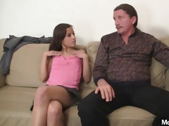 concupiscent gf jumps on her bfs dad pounder