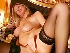 hot golden-haired masturbation