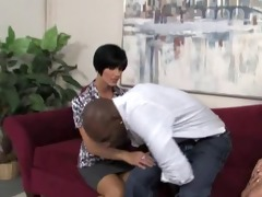 mature mother go black with not her daughter