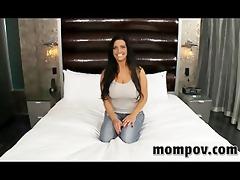 breasty milf making her debut adult video
