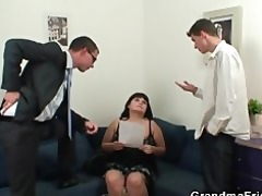 fat bitch is double screwed after photosession