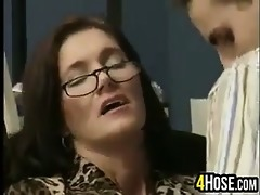 older woman drilled in the office