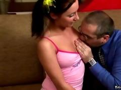 youthful hot schoolgirl perverts her old professor