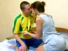 redhead russian mature mother gets drilled by