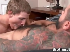 two muscled homo studs fucking part1