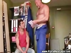 gay guy seduces his younger co worker to engulf