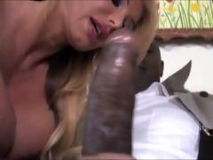 breasty whore mom go darksome in front of son