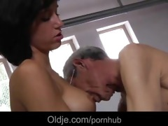 weakling 72 old man assfuck deep slender tall
